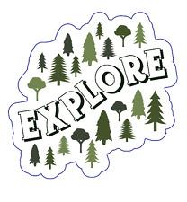 Explore Custom Vinyl Die Cut Sticker 3 x 3 Durable! Dishwasher-Safe/UV Protected