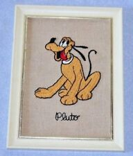 Vintage 1966 Walt Disney Productions EPIC Pluto Embroidered Picture Dog
