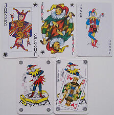 5 verschillende Jokers, playing cards (3)