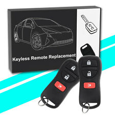2x New Entry Remote Control Keyless Key Fob for Nissan CWTWB1U415 & CWTWB1U733