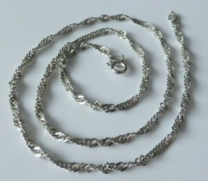 """Fine Lovely Sterling Silver Fancy Twisted Link Chain Necklace 16"""" 3.4g"""