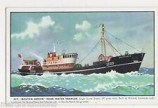 M.T. Boston Arrow, Near Water Trawler Shipping Art Postcard, B564