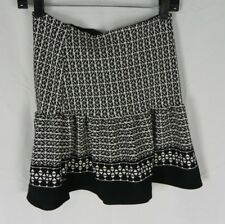 NEW Milky Way Black & White Knit A Line Mini Skirt Size M (D1-61)