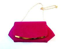 Borse da donna tinta unita rosa in camoscio sintetico