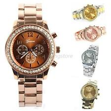 Fashion Womens Girl Bling Crystal Analog Stainless Steel Quartz Wrist Watch A33