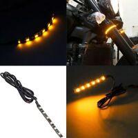 Bande lumineuse légère de clignotant flexible ambre de la moto 1Pc 6 LED bgrh