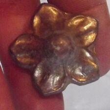 Ancienne Matrice pour Pâtissier confiseur Diam 3c Fleur Bronze 1950