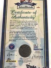 S.S. John Berry SHIPWRECK COIN 1944 Saudi Arabian SILVER RYAL SUNK ABDUL AC RARE