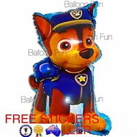 Large PAW PATROL BALLOONS Chase Toys BIRTHDAY PARTY SUPPLIES AUS SELLER Dog Free