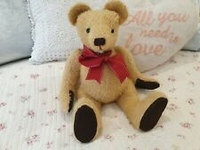 Antique/ Vintage Straw Filled Teddy Bear With Working Growler, Mohair