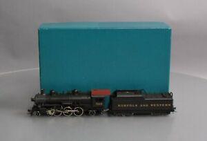 NWSL HO BRASS N&W E-2a 4-6-2 Steam Locomotive & Tender - Painted/Box