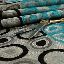 Half Half Geometric Pattern Black Grey Teal Soft Raised Velvet Upholstery Fabric