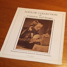 NAYLOR COLLECTION of Cameras and Images 10 page LEAFLET BROCHURE