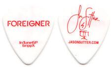 FOREIGNER Guitar Pick : 2010 Tour Jason Sutter signature white