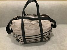 Pottery Barn Diaper Bag Dufflebag Grey Black Baby Infant Backpack $175 Msrp