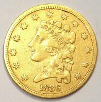 1836 Classic Gold Quarter Eagle $2.50 Coin - XF Details - Rare Coin!