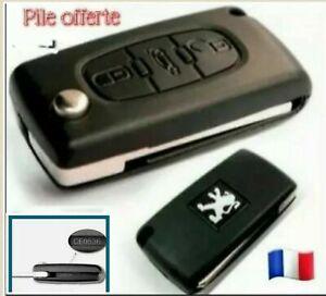 Coque Clé Peugeot 107 207 307 308 407 807 Partner CE0536 avec rainure + pile