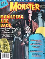 Monster Land #5 Oct 1985  The Bride Sting Fright Night Day of the Dead Karloff