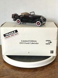 1:24 Danbury Mint 1933 Limited Edition Ford Cabriolet