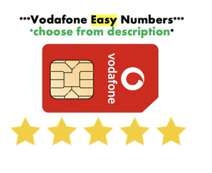 Vodafone Sim Card Easy Number GOLD VIP Sim Fancy Numbers Choose from List