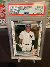 2020 1st Bowman Chrome Prospects JASSON DOMINGUEZ #BCP8 Yankees PSA 10 Gem Mint