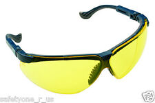 Sperian Brand Safety Glasses - XC Blue Frame, Fog Ban with HDL Yellow Lens