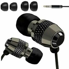 Black Metal In-Ear Noise-Isolating Headphones Microphone and Volume Control E01