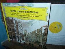 VERDI: Opera Choruses Choeurs Chöre > Milan Scala Abbado / DG France stereo LP