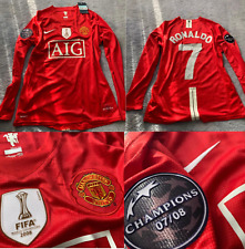 manchester united 2008 2009 shirt jersey champions league model fifa ronaldo
