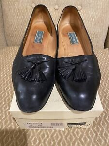 Cole Haan Womens Size 11 AA Leather Black Tassel Slip On Loafers Dress Shoes