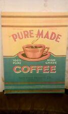 Moderno Marco de fotos de publicidad Vintage Reproducción de 46 cm X 36 Cm alto café