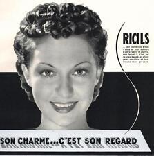 ▬► PUBLICITE ADVERTISING AD RICILS produits de beauté 1936