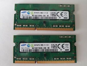 4GB Samsung DDR3 Laptop Memory M471B5773DH0-CH9 (2x2GB) PC3-10600S Matching Pair