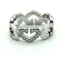 Cartier Heart & Symbols Ring in 18k white gold & Diamonds. Size 7.25 US.