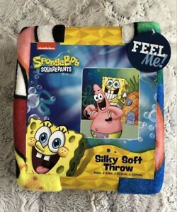SPONGEBOB SQUAREPANTS SILKY SOFT THROW BLANKET, 40 X 50Brand New