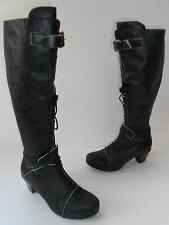 SACHELLE CONCEPT BLACK LEATHER BOOTS KNEE HI size US 6 EUR 36.5 HOT $200