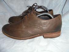 Clarks men's BROWN Leather Lace Up Shoes Size Uk 8 EU 42 VGC