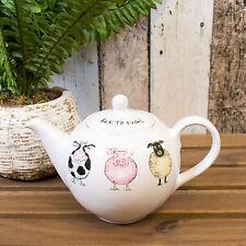800ml Ceramic Teapot Framyard Farm Pig Cow Animals Novelty Afternoon Tea Pot