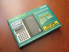 Casio PF-3200 LCD pocket Data-Bank computer calculator RARE Vintage 1980