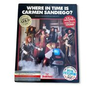 Where in Time is Carmen Sandiego PC IBM/TANDY  Vintage 1989 Broderbund