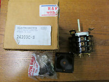 New Nos Electroswitch 24203c S Rotary Switch 2hp 240480vac 2 20a 30 600vac