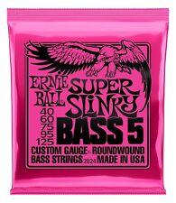 Ernie Ball 2824 Super Slinky Bass 5 Allround 040-125 5-Saiter E-Bass Nickel USA