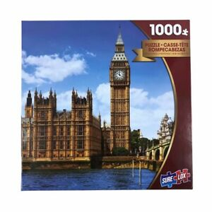 """Sure Lox London Big Ben Photo Gallery 1000 Pieces Jigsaw Puzzle 27"""" X 19"""" New"""