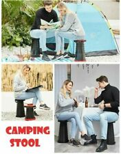 Ultralight Portable Folding Backpacking Camping Stool/Chair (BLACK COLOR)