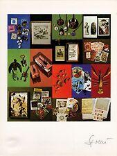 """litografia Daniel Spoerri """"Scorpione"""" / """"Scorpio"""" - Firmato/Signed"""