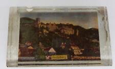 """Antiker Souvenir Glas Paperweight """" Heidelberg """"  Glas Briefbeschwerer"""
