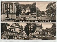 Ansichtskarte Bad Elster - Badehaus/Gondelteich/Kurhaus/Elsterbrunnen - s/w