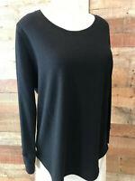 New! ARCHITECT WOMAN XL Plus Black Long-Sleeve Cotton/Poly Thermal-Shirt Top