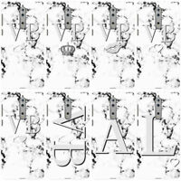 DYEFOR PERSONALISED MONOCHROME MARBLE INITIALS PHONE CASE COVER FOR NOKIA