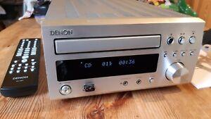 Denon RCD-M37DAB, CD player, MP3, DAB/FM/AM Mini HiFi in Silver, V.G.C., Remote